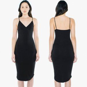American Apparel 2x2 Rib Sofia Midi Dress